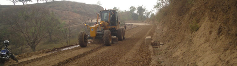 Roadway upgrading works along Dangisaran Marg , Dang
